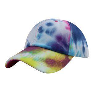 Rainbow Tie Dye Boho Trucker Hat Baseball Cap